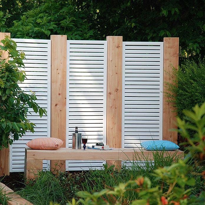 Rankgitter Sylt Weiss60x180 Cm Noble Wood Sichtschutz Garten Rankgitter Gartenzaun Weiss