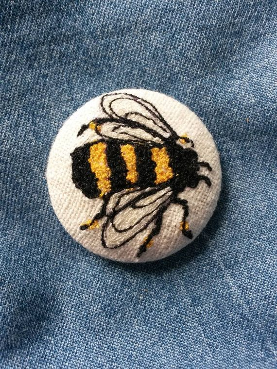 Check out this item in my Etsy shop https://www.etsy.com/uk/listing/205844277/stitched-bee-brooch-badge-textile-art