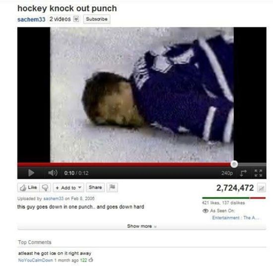 funny youtube comments hockey ice