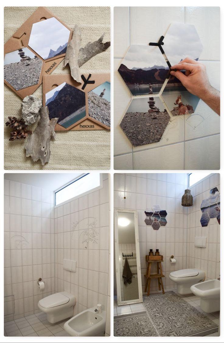 Diy Verschonerung Wandfliesen Im Bad Einfach Und Schnell Mit Bildern Wandgestaltung Wandgestaltung Kleine Raume Selber Machen Badezimmer