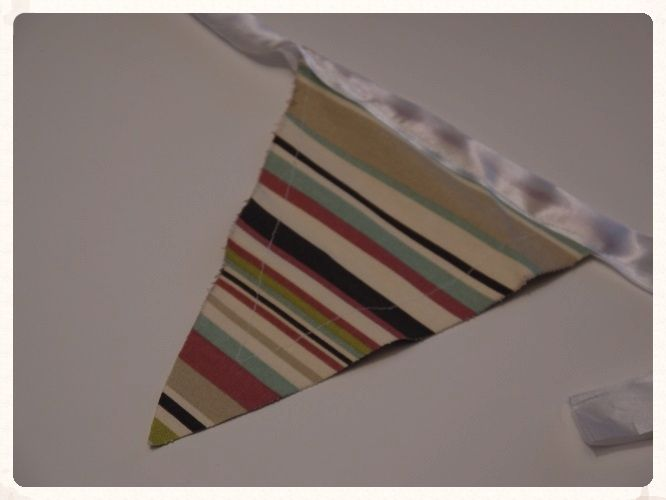 Autumn coloured stripped bunting, perfect for weddings. Handmade bunting from thick fabric. £9.99 for 5 metres. www.picketfenceweddings.co.uk