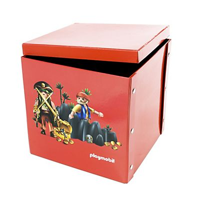 Playmobil Boite carrée 2 en 1 à motif Playmobil Pirates