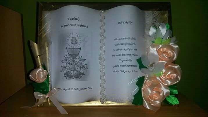 Kniha na prve sväte prijmanie