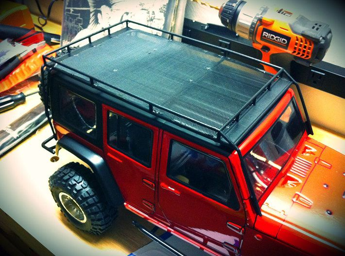 1 10 Scale Jeep Roof Rack By Scalercparts On Shapeways Roof Rack Rc Jeep Jeep