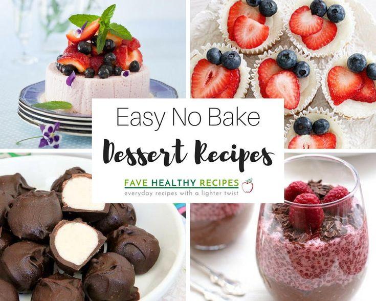 Simple easy healthy dessert recipes