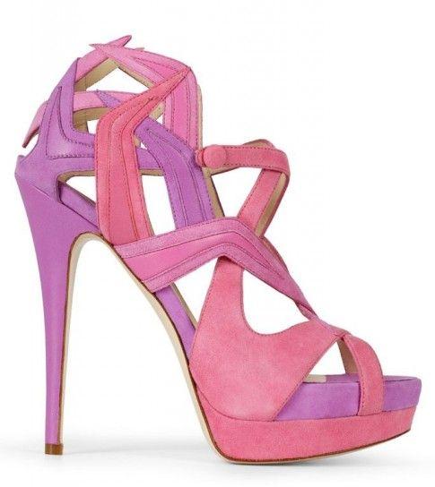 Sandali rosa e lilla