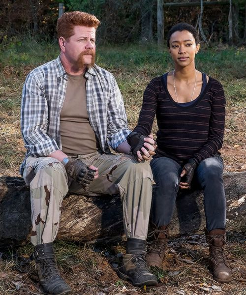 """"""" Sasha Williams and Abraham Ford in The Walking Dead Season 7 Episode 16 