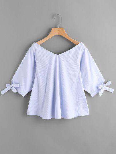 Blusa escote V