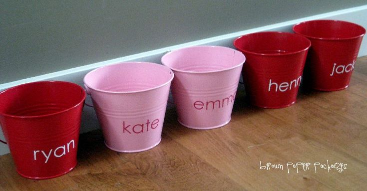 Love buckets- Each day starting February 1st, and running through February 14th, leave a little love note in each of their buckets, writing something special about them, plus either a small treat or gift letting them know of a fun activity planned for that day.