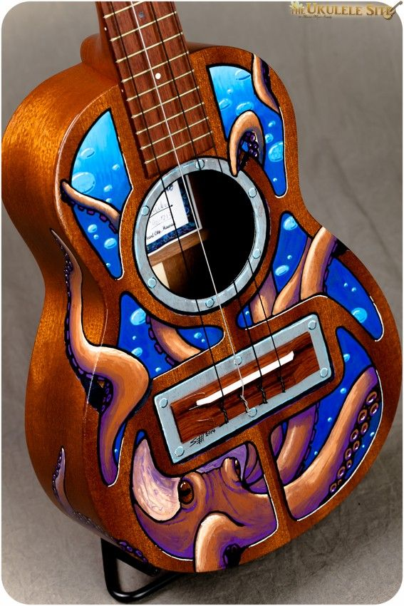 octopus painted ukulele - Google Search