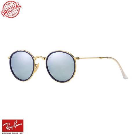 RayBan Round Folding F.Mavi-Altın Gözlük - 41 #RayBan #raybangözlük #raybanroundmetal #raybangözlükmodelleri #roundmetal #güneşgözlüğü #katlanabilirgözlük #raybankatlanabilirgözlük