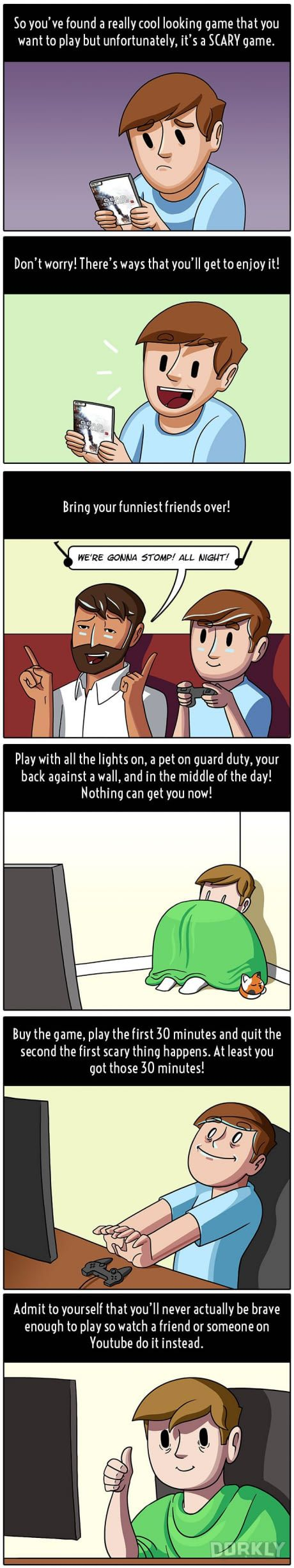 How To Play Scary Games For Scaredy Cats