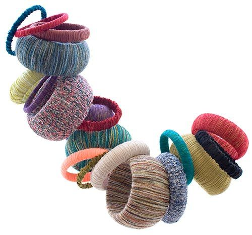 Las Teje y Maneje: YARN-WRAPPED BANGLES