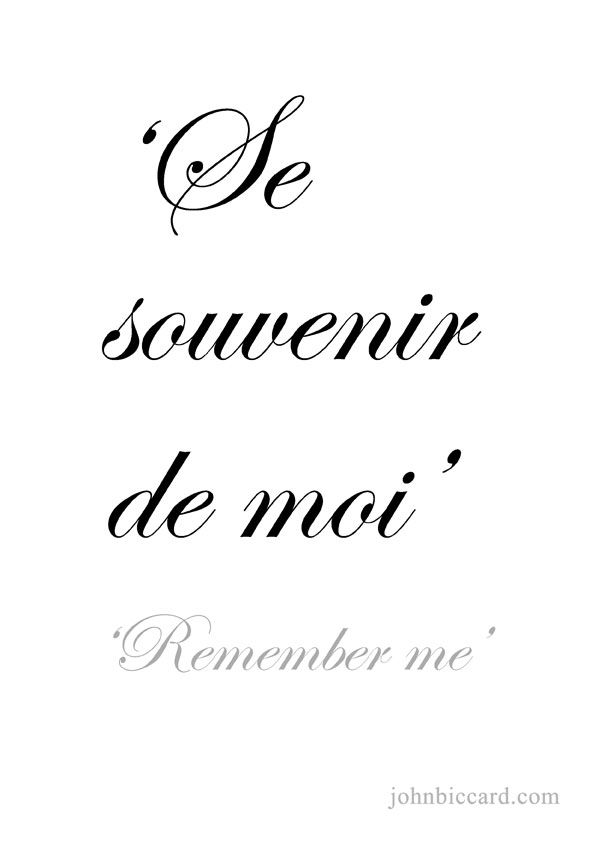 ♔ 'Remember me'