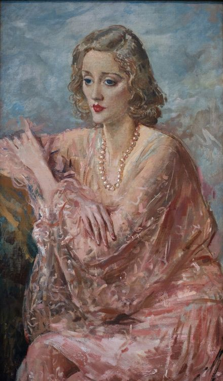 Portrait of Tallulah Bankhead by Augustus John (British, 1878-1961)  His sister's work seems more engaging