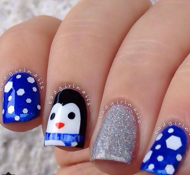 Penguin winter nails                                                                                                                                                                                 More