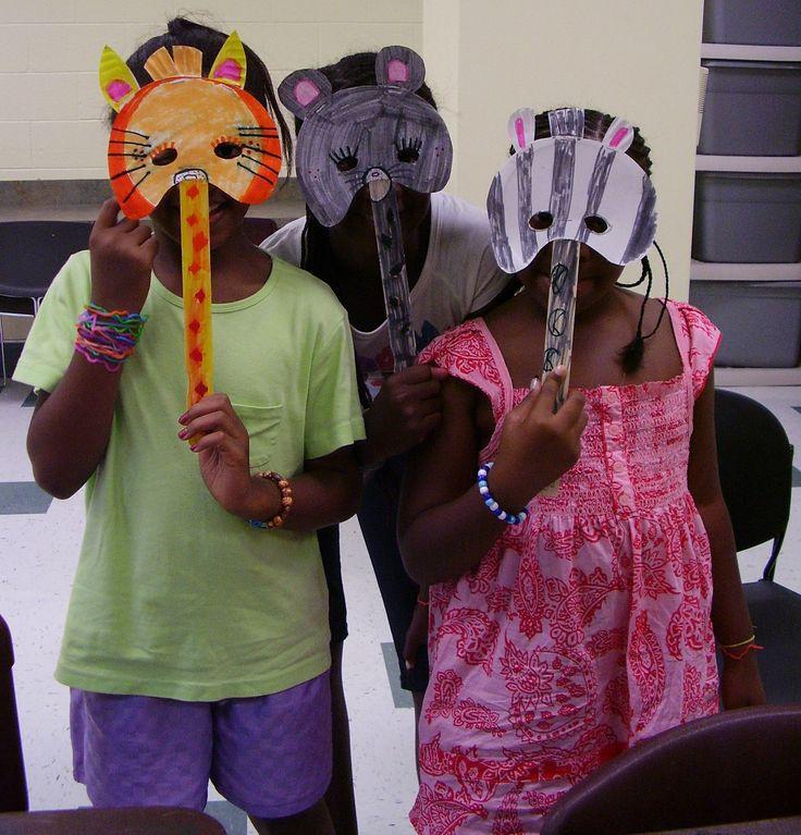Paper plate animal masks, afterschool program (ages 6-11)