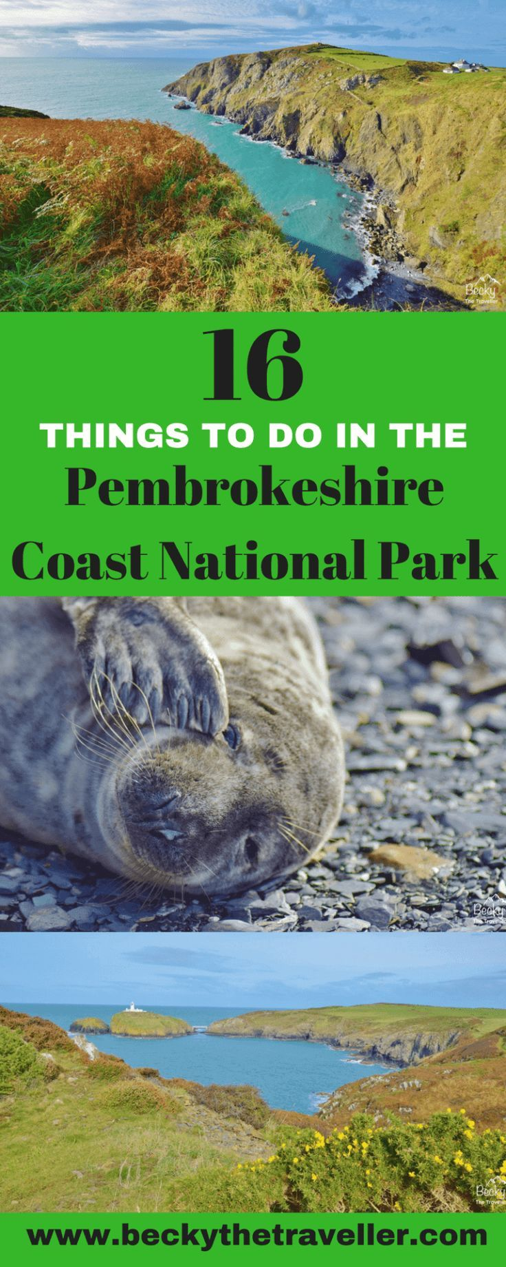 16 things to do in the Pembrokeshire Coast National Park. Are you looking for things to do on your visit to the Pembrokeshire Coast? Here's my ultimate list of things to do whilst you are here. Includes hiking, wildlife, nature and lots more ideas. Places to visit in Pembrokeshire | Things to do in Pembrokeshire | Visit Pembrokeshire | Visit Wales | UK | United Kingdom