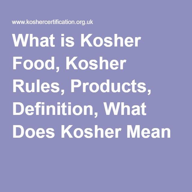 Kosher Food Definition