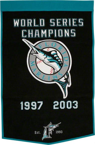 Florida Marlins Dynasty Banner