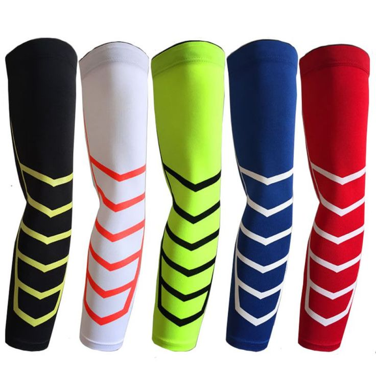 1 Piece Compression Arm Sleeves Cycling Sun Protective Armbands Elastic Spandex Arm Warmer Unisex Bike Basketball New