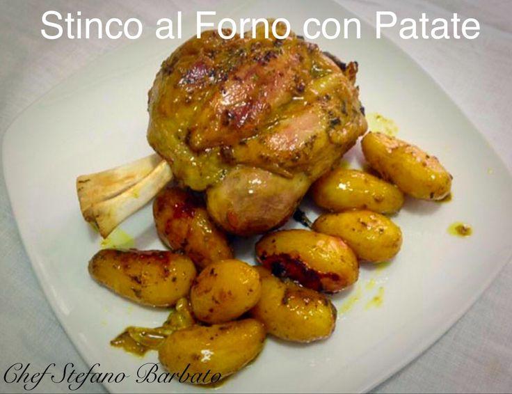 http://www.chefstefanobarbato.com/it/stinco-al-forno-con-patate-curcuma-e-brandy/ #Stincoalforno #Patate #Maiale  #carne @BarbatoStefano #cucina #food #Mangiare #ricetta