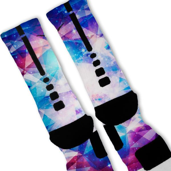 Galaxy Prism Custom Nike Elite Socks – Fresh Elites