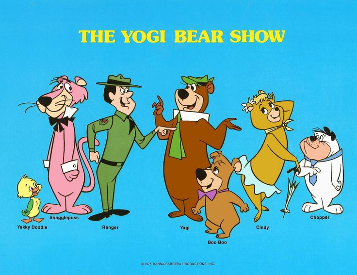 Yogi Bear Boo Boo Ranger Smith Snagglepuss Cindy Bear Yakky Doodle and Chopper.