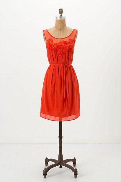 Sangeet Dress #anthropologie: Pretty Dresses, Summer Dresses, Auburn Dresses, Sangeet Dresses, Anthropologie Com, Anthro Dresses, Bright Orange Dresses, Cute Bridesmaid Dresses, Dresses Anthropologie