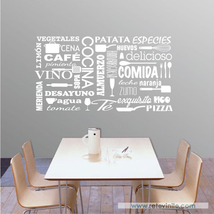 17 mejores ideas sobre vinilos decorativos cocina en - Vinilos cocina originales ...