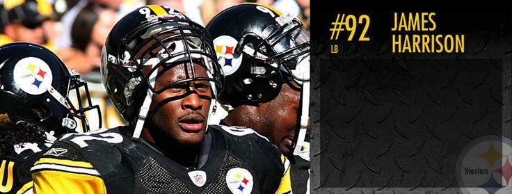 James Harrison [#92]: Pittsburgh Steelers Linebacker. CRUNCH!