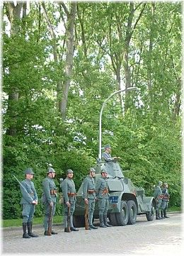 Netherlands ready to Landsverk M38 armored car during the memorial service at the airport Ypenburg, May 10, 2005.