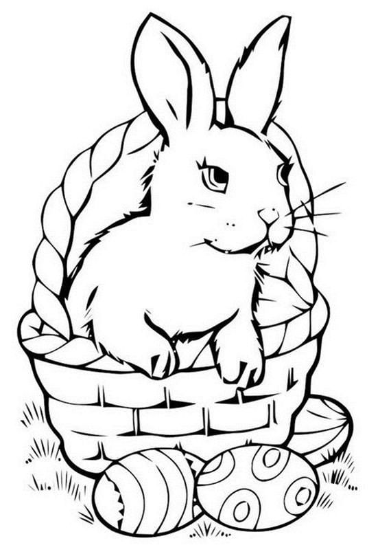Amazing Easter Basket Coloring Pages Bunny Coloring Pages Free