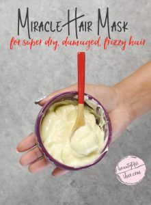 Miracle hair mask for damaged hair