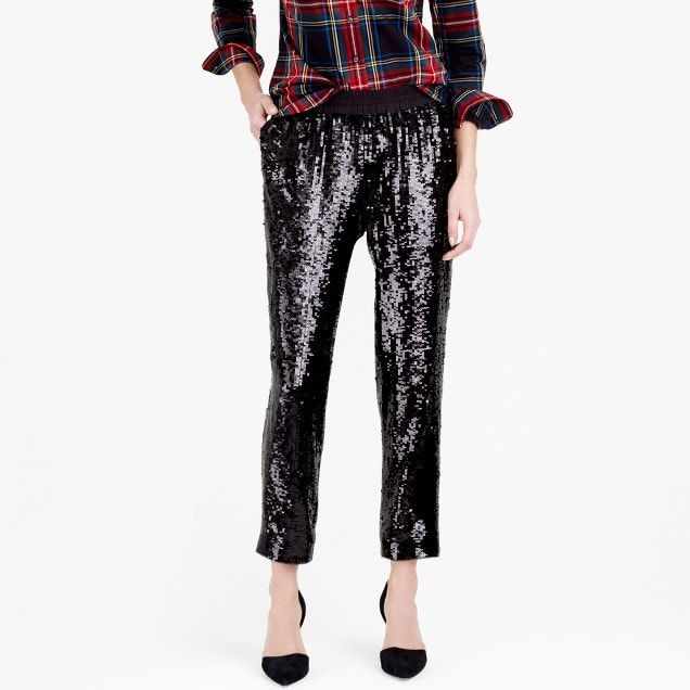 Collection pull-on sequin pant : Women pants | J.Crew