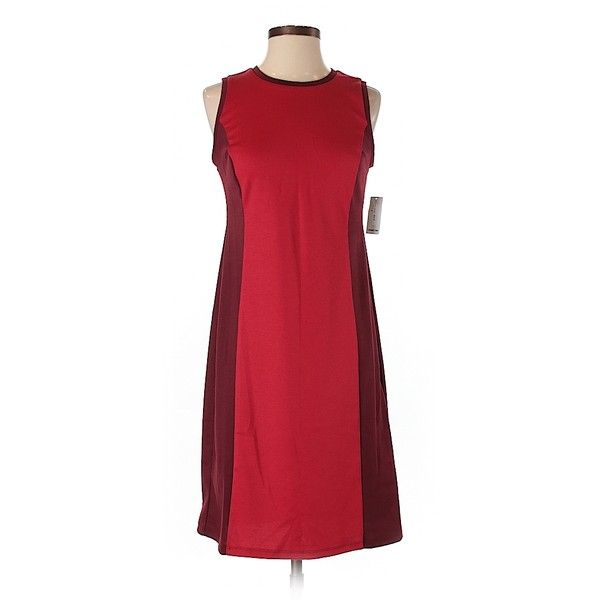 Old Navy Casual Dress ($15) ❤ liked on Polyvore featuring dresses, red, old navy dresses, old navy and red dress