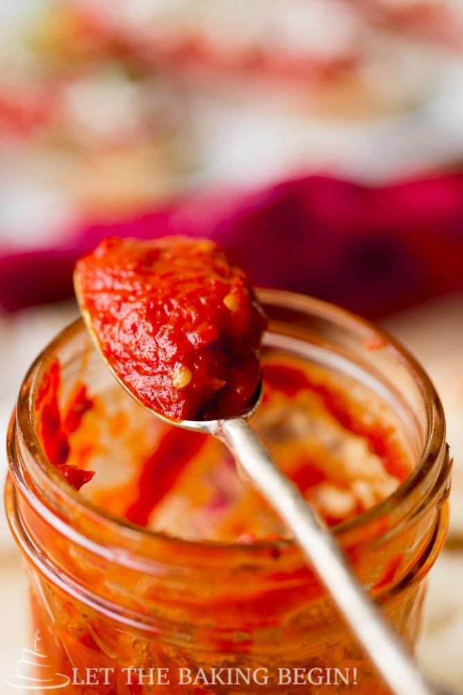 Spicy, velvety smooth, roasted pepper spread can be ready at any time with the help of caning. #recipe #canning #pepper #appetizer #eggplant #ajvar #spread #dip