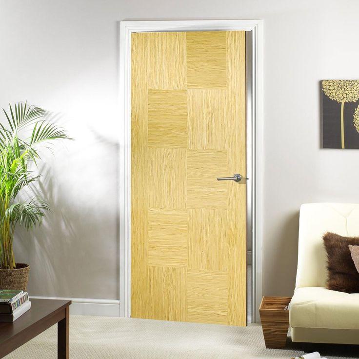 Bespoke Apollo Oak Flush Fire Rated Door - Prefinished.    #moderndoor #internaldoor #firedoor #newdoor #door #oakdoor #interiordesign
