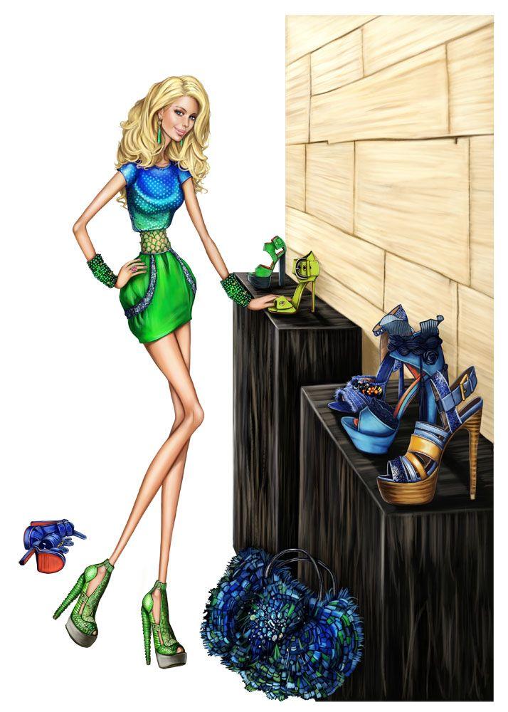 Fashion Illustration   Pergamino #Illustration #Artistic