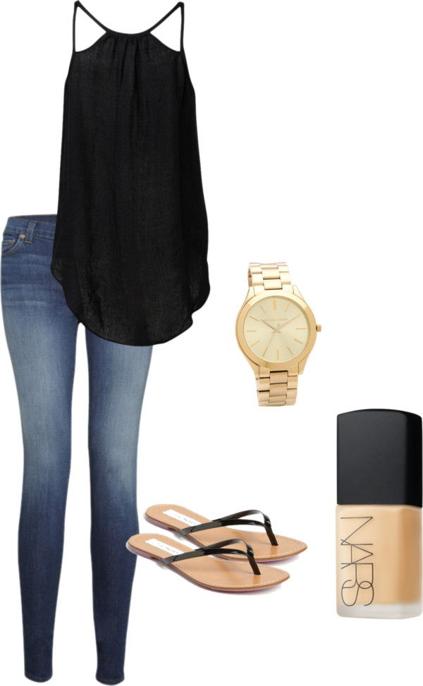 "Summer Nights ""black nude"" by greenpotcamiemeek on Polyvore"