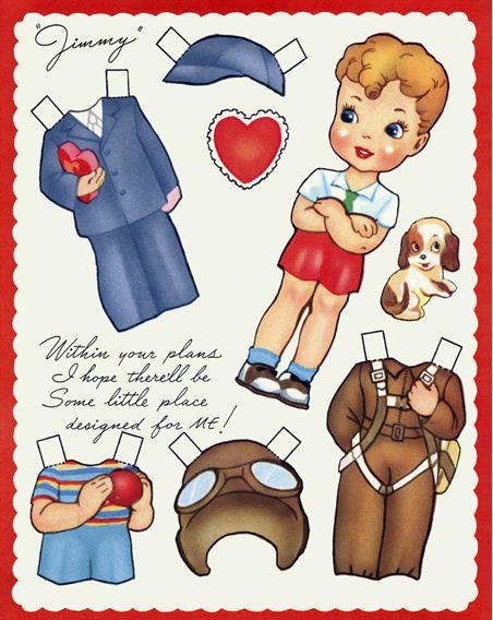 valentines paper doll printables