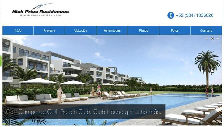 Nick Price Residences gives you top notch chances to contribute as a Sole Property Owner, with precise financing circumstances. Please go through the link http://www.nickpriceresidences.com.mx/