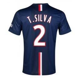 2014-15 PSG T.Silva 2 Home Soccer Jersey Shirt - Navy Blue | Cheap Sale Only $23.99