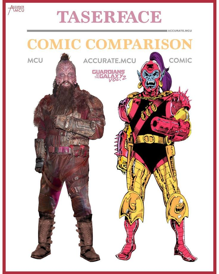 """1,608 Likes, 15 Comments - • Accurate.MCU • mcu fanpage (@accurate.mcu) on Instagram: """"• TASERFACE - COMIC COMPARISON • Taserface was definitely one of the most fun characters of volume…"""""""