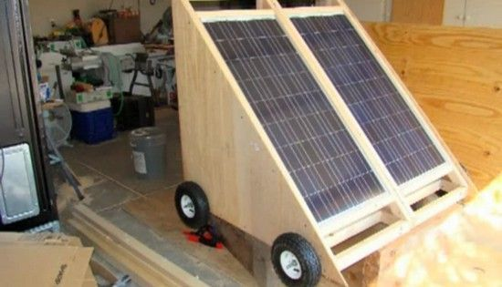 A tiny house dweller creates a portable solar generator for off-grid living. #greenpower