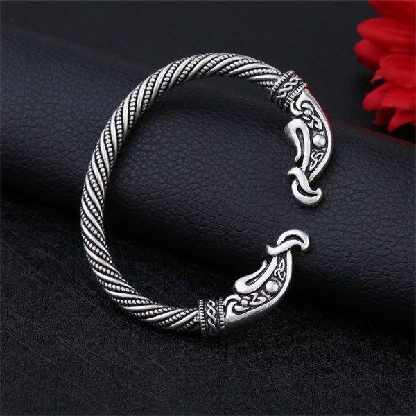 925 Silver Plated Jewelry Braid Knot Bangle Wristband Armband Bracelet Accessory