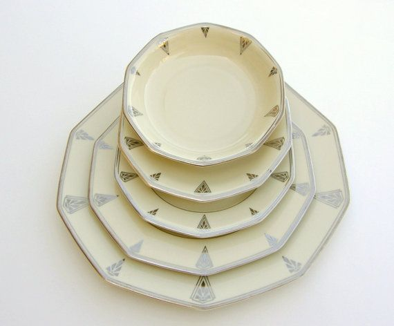 Exceptional Art Deco Dinnerware 1931 by @SusaBellaBrown on @etsy #vmteam