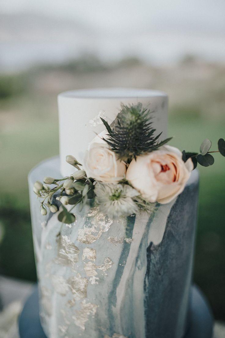 Gorgeous Wedding Cake - Rebecca Ingram Wedding Dress - Styled Shoot