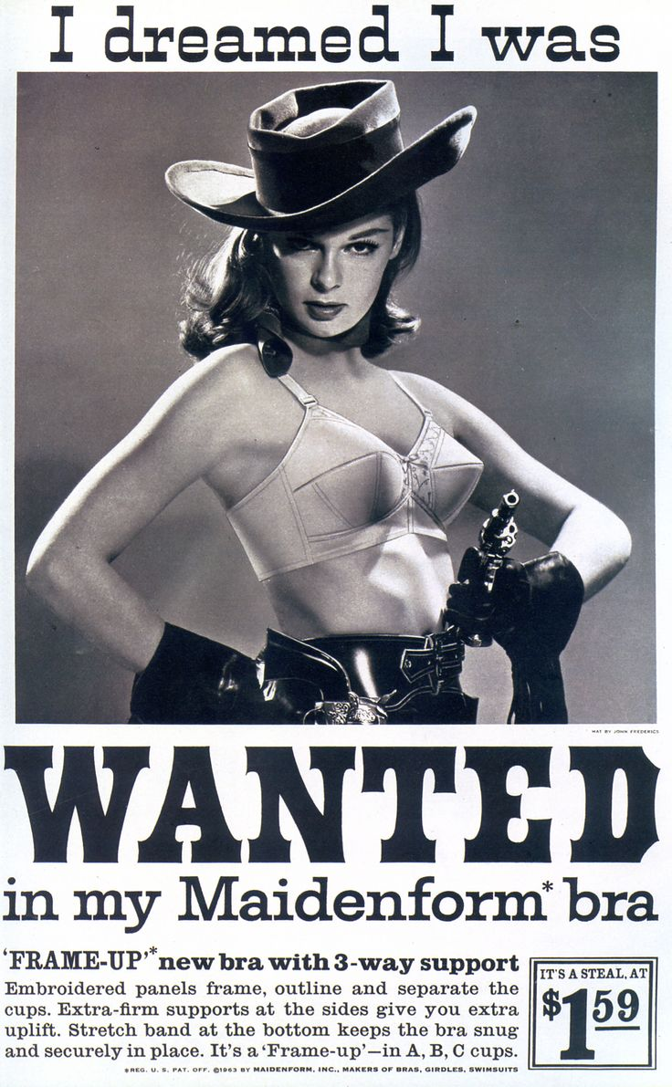 I Dreamed I Was Wanted...1963. Vintage wildwest cowgirl ad