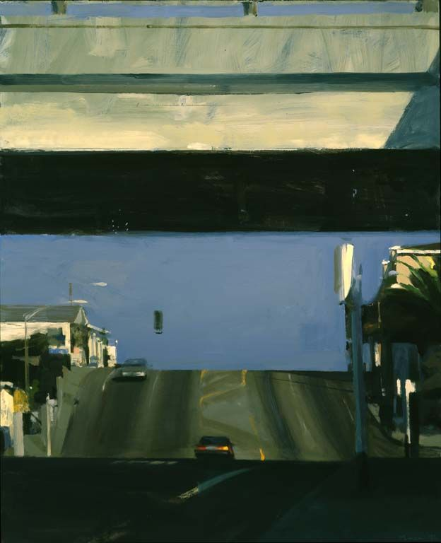 Ben Aronson Overpass, 1997 52X47 oil on panel
